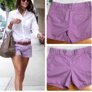 J. Crew chino broken in lavender 100% cotton short
